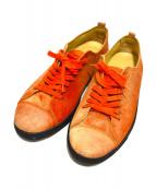 ARMANI COLLEZIONI(アルマーニコレツォーニ)の古着「スウェードスニーカー」|オレンジ