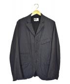 Engineered Garments(エンジニアードガーメンツ)の古着「総柄ワークジャケット」|ネイビー