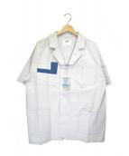 C2H4(シーツーエイチフォー)の古着「オープンカラージップシャツ」|グレー