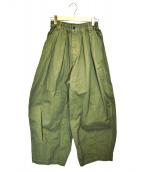 HARVESTY(ハーベスティー)の古着「CIRCUS PANTS」|カーキ