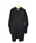 Y's(ワイズ)の古着「デザインタイトコート」|ブラック