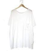 Y's(ワイズ)の古着「ワイドシルエットポケットTシャツ」|ホワイト