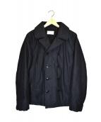 COOTIE PRODUCTIONS(クーティー プロダクツ)の古着「Reefer Coat」|ブラック
