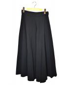 Y's(ワイズ)の古着「ウールミディフレアスカート」|ブラック