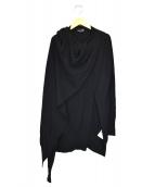 RISMAT by Y's(リスマットバイワイズ)の古着「変形ウールロングニット」|ブラック