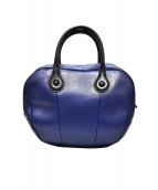 MARNI(マルニ)の古着「バトルハンドバッグ」|ブラック×ブルー
