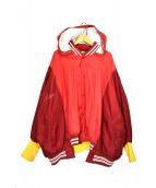 77circa(ナナナナサーカ)の古着「リメイクフーデットブルゾン」|レッド