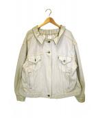 77circa(ナナナナサーカ)の古着「リメイクデニムジャケット」|ベージュ