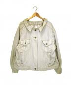 77circa(ナナナナサーカ)の古着「リメイクデニムジャケット」 ベージュ