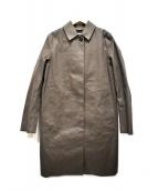 MACKINTOSH(マッキントッシュ)の古着「ゴム引きステンカラーコート」|グレー