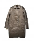 MACKINTOSH()の古着「ゴム引きステンカラーコート」 グレー
