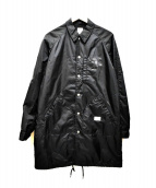 BEDWIN &THE HEARTBREAKERS(ベドウィンドアンドザ ハートブレイカーズ)の古着「ナイロンコーチロングジャケット」|ブラック