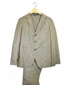 45rpm(45アールピーエム)の古着「チェック3Bセットアップスーツ」|ベージュ