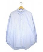 Graphpaper(グラフペーパー)の古着「オックスフォードボタンダウンボックスシャツ」|ブルー
