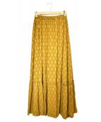 UNITED ARROWS TOKYO(ユナイティッドアローズトウキョウ)の古着「マキシスカート」|イエロー