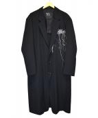 Y's(ワイズ)の古着「シワギャバ ビッグジャケット」|ブラック