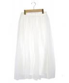 JILL STUART(ジルスチュアート)の古着「エヴィーホカドットチュール×ケミカルレーススカート」|ベージュ