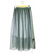 JILL STUART(ジルスチュアート)の古着「ダイヤモンドチュールスカート」|グリーン
