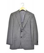 ()の古着「ストライプ2Bジャケット」 グレー