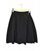 CHANEL(シャネル)の古着「フラワージャガードスカート」|ブラック