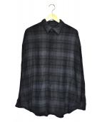 N.HOOLYWOOD(ミスターハリウッド)の古着「フランネルオーバーサイズシャツ」 グレー