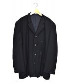 COMME des GARCONS HOMME(コムデギャルソンオム)の古着「オールド3Bウールジャケット」 ブラック