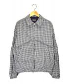 KAPITAL(キャピタル)の古着「パフスリーブギンガムチェックブルゾン」|ホワイト×ブラック