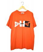 Gosha Rubchinskiy(ゴーシャラブチンスキー)の古着「プリントTシャツ」|オレンジ