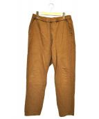 BARENA(バレナ)の古着「ワークイージーパンツ」|ブラウン