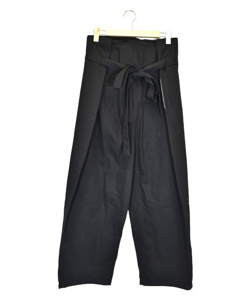 Yarmo(ヤーモ)Yarmo (ヤーモ) ブリティッシュラップパンツ ブラック サイズ:下記参照  YAR-18SS-P19の古着・服飾アイテム