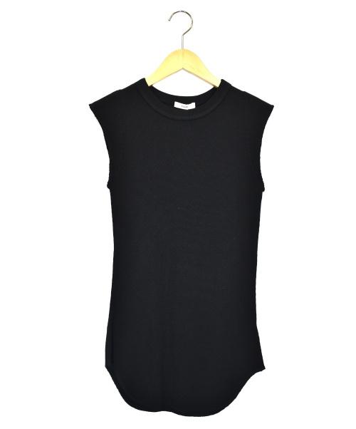CLANE(クラネ)CLANE (クラネ) ノースリーブサーマルトップス ブラック サイズ:1  16105-3371の古着・服飾アイテム