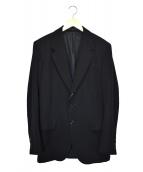 Y's for men(ワイズフォーメン)の古着「ラムレザー切替2Bテーラードジャケット」|ブラック