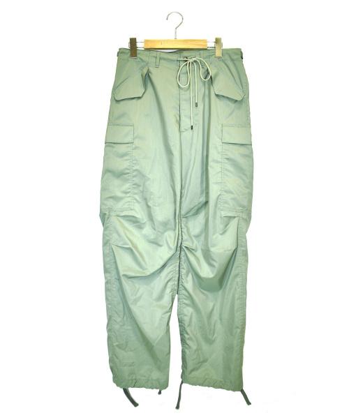AURALEE(オーラリー)AURALEE (オーラリー) ライトフィンクスポリエステルファティーグパンツ グリーン サイズ:3 A9SP02PW LIGHT FINX POLYESTER FATIGUE PANTSの古着・服飾アイテム