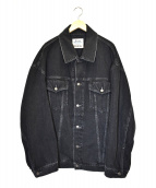 Acne Studios Bla Konst(アクネ ストゥディオズ ブロ コンスト)の古着「オーバーサイズドデニムジャケット」|ブラック