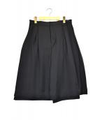 noir kei ninomiya(ノワール ケイ ニノミヤ)の古着「チュールタックワイドショーツ」|ブラック