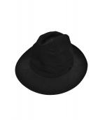 YohjiYamamoto pour homme(ヨウジヤマモトプールオム)の古着「Wrinkled Gabardine Fedora hat」 ブラック