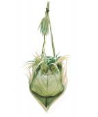 ISSEY MIYAKE FETE(イッセイミヤケ フェット)の古着「プリーツバッグ」|グリーン