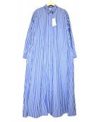 UNITED ARROWS TOKYO(ユナイティッドアローズトウキョウ)の古着「ロングシャツワンピース」|ブルー×ホワイト