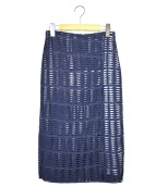 EPOCA(エポカ)の古着「カットワークラップスカート」 ブルー