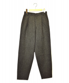 ISSEY MIYAKE(イッセイミヤケ)の古着「タックウールパンツ」|グレー
