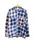 MONKEY TIME(モンキータイム)の古着「オンブレチェックシャツ」 ブルー×レッド