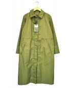 HUMAN WOMAN(ヒューマンウーマン)の古着「リモンタEAST綿ナイロンタッサーショートコート」 オリーブ