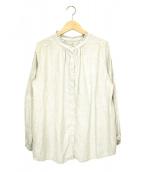 nest Robe(ネストローブ)の古着「ハイネックリネンシャツ」|ベージュ