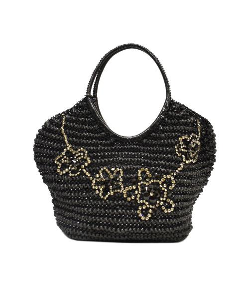 ANTEPRIMA(アンテプリマ)ANTEPRIMA (アンテプリマ) ストーン付きワイヤーバッグ ブラック サイズ:下記参照の古着・服飾アイテム