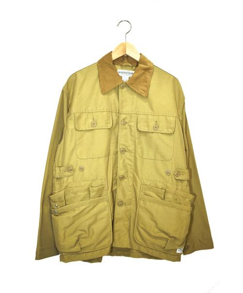 SASSAFRAS(ササフラス)SASSAFRAS (ササフラス) ハンティングジャケット ベージュ サイズ:Mの古着・服飾アイテム