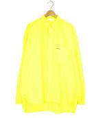 ()の古着「B.D.WORK SHIRTボタンダウンシャツ」|イエロー