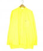NEON SIGN(ネオンサイン)の古着「B.D.WORK SHIRTボタンダウンシャツ」|イエロー
