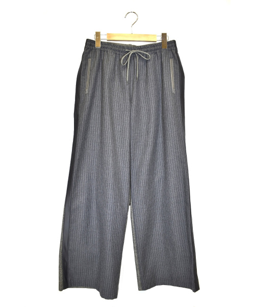 SueUNDERCOVER(スーアンダーカバー)SueUNDERCOVER (スーアンダーカバー) 前後切替側章ワイドパンツ グレー サイズ:2 SUV8501-1の古着・服飾アイテム