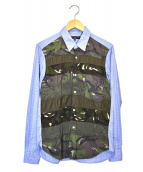 COMME des GARCONS HOMME(コムデギャルソンオム)の古着「切替シャツ」|スカイブルー