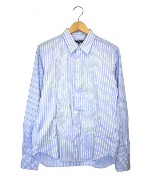 COMME des GARCONS HOMME(コムデギャルソンオム)COMME des GARCONS HOMME (コムデギャルソンオム) デザインシャツ スカイブルー サイズ:SS HB-B061 AD2008の古着・服飾アイテム